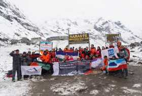 Immigration and S5's Annapurna For World Peace Expedition 2018 team successfully reached Annapurna Base Camp (ABC) on 6th April 2018