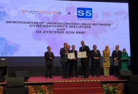 Memorandum of Understanding Exchange Ceremony between S5 Systems and CyberSecurity Malaysia during Majlis Pra-Pelancaran Global ACE Scheme & Malam Penghargaan CyberSecurity Malaysia 2018